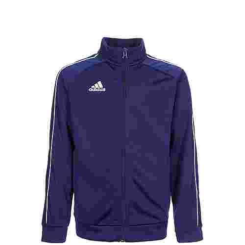 adidas Core 18 Trainingsjacke Kinder dunkelblau / weiß