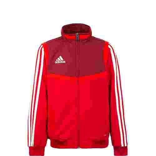 adidas Tiro 19 Trainingsjacke Kinder rot / weiß