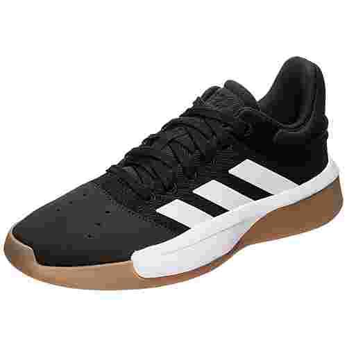 adidas Pro Adversary Low 2019 Basketballschuhe Herren schwarz / weiß