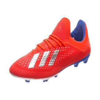 adidas X 18.1 Fußballschuhe Kinder rot / silber