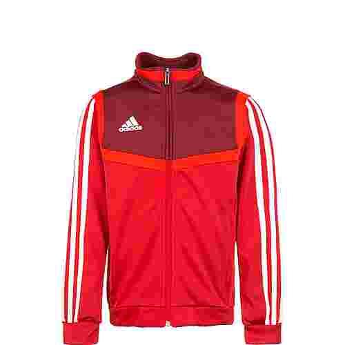 adidas Tiro 19 Polyester Trainingsjacke Kinder rot / dunkelrot