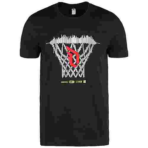 adidas Dame Logo Basketball Shirt Herren schwarz