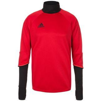 adidas Sweatshirt Herren rot / schwarz