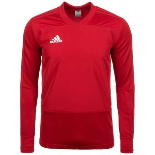 adidas Core 18 Funktionssweatshirt Herren rot / weiß