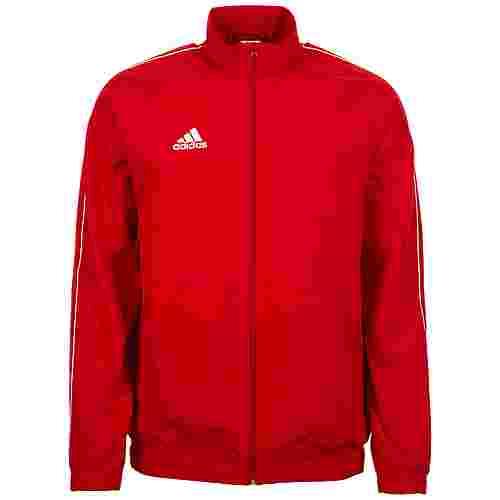 adidas Core 18 Trainingsjacke Herren rot / weiß