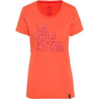 La Sportiva Pattern T-Shirt Damen flamingo