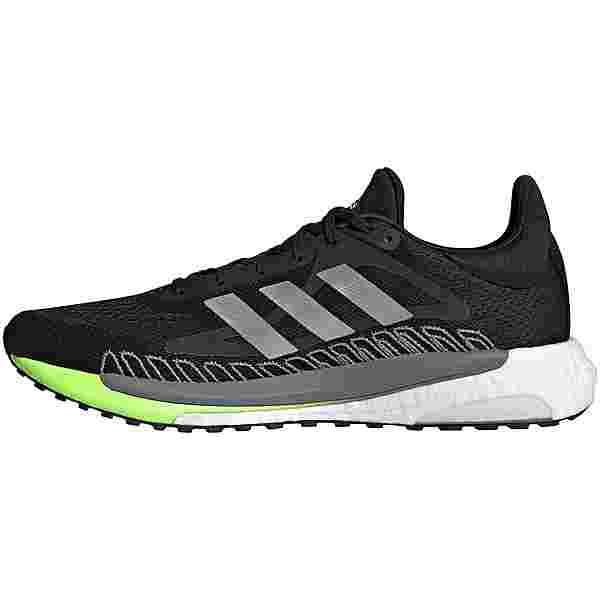 adidas Solarglide 3 Laufschuhe Herren core black-silver met.-signal green