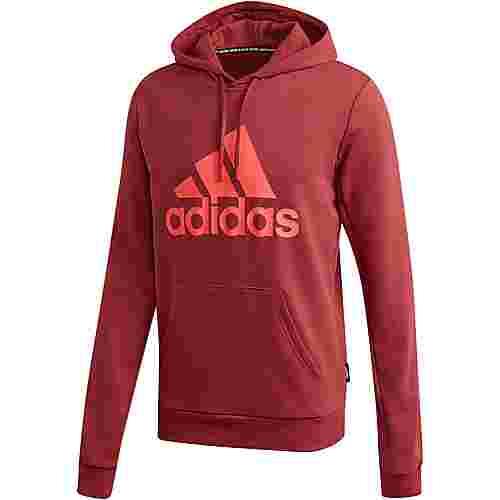 adidas Badge of Sports Hoodie Herren legacy red
