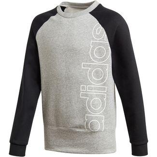 adidas YB LOGO CREW Sweatshirt Kinder medium grey heather