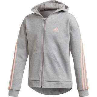 adidas G 3S FZ HD Kapuzenjacke Kinder medium grey heather