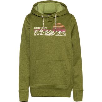 Burton Oak Hoodie Damen pesto green heather