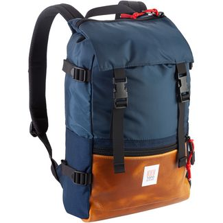 Topo Designs Rucksack Rover Pack Heritage Daypack navy-brown leather