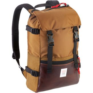 Topo Designs Rucksack Rover Pack Heritage Daypack duck brown-dark brown leather