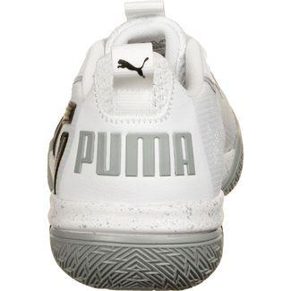 PUMA Legacy Low Basketballschuhe Herren weiß / grau