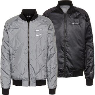Nike NSW Swoosh Trainingsjacke Herren black-particle grey-white