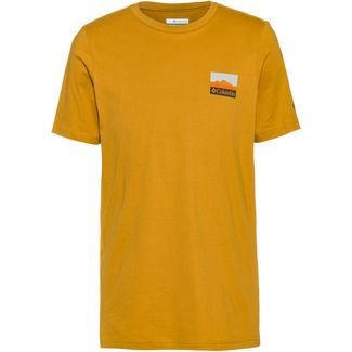 Columbia Rapid Ridge T-Shirt Herren dark banana csc leafscape