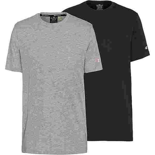 CHAMPION Shirt Doppelpack Herren oxford grey oxg melange yarn dyed-black beauty