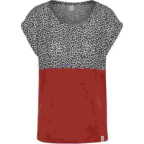 iriedaily Funky Block T-Shirt Damen black white