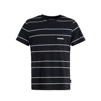 Khujo PHRASE T-Shirt Herren schwarz-grau gestreift