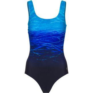 Lascana Badeanzug Damen blau gemustert