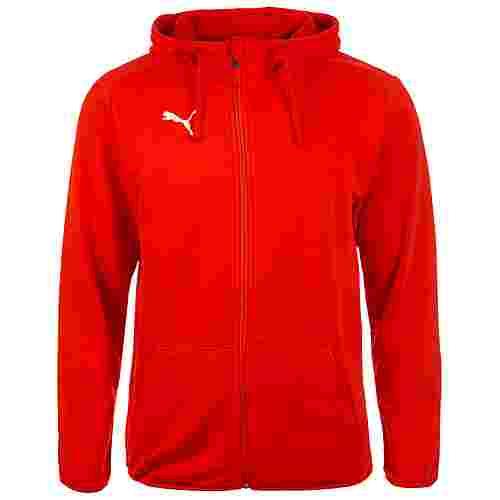 PUMA Liga Casuals Trainingsjacke Herren rot / weiß