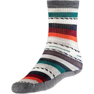 Smartwool Merino Light Cactus Print Crew Wandersocken Damen medium grey