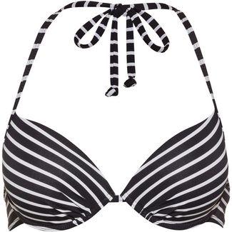 S.OLIVER Bikini Oberteil Damen schwarz-weiß gestreift