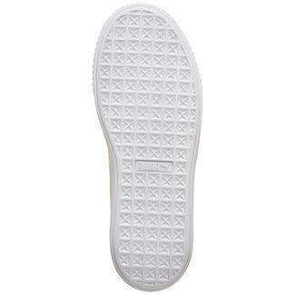 PUMA Suede Platform Shimmer Sneaker Damen grau / weiß