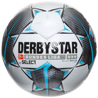 Derbystar Bundesliga Brillant Replica Light Fußball weiß / petrol