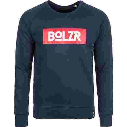 Bolzr Sweater Sweatshirt Herren blau / rot