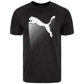 PUMA The CAT Heather Funktionsshirt Herren schwarz