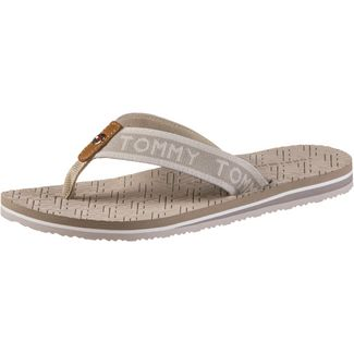 Tommy Hilfiger TH EMBOSSED FLAT BEACH SANDAL Zehentrenner Damen stone