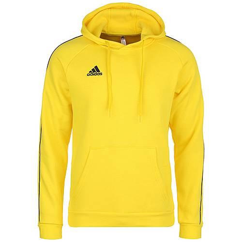 adidas CORE 18 Hoody Kapuzenpullover gelb schwarz: