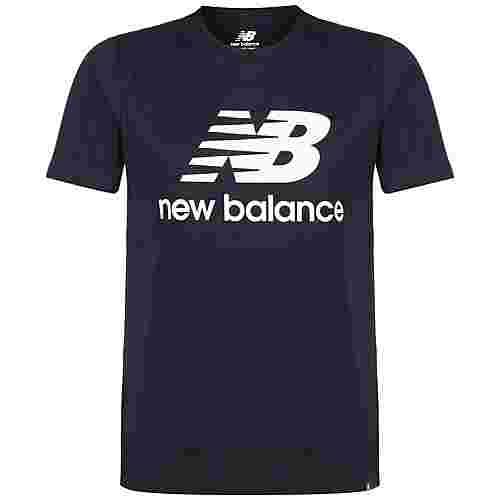 NEW BALANCE Essentials Stacked Logo T-Shirt Herren schwarz