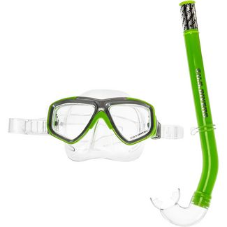 US Divers Combo Java Schnorchelset Kinder bright green