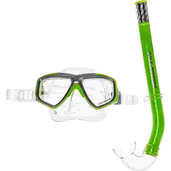 US Divers Combo Java Schnorchelset Kinder bright green