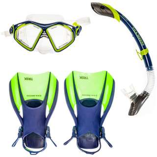US Divers Admiral Set Schnorchelset blue bright yellow