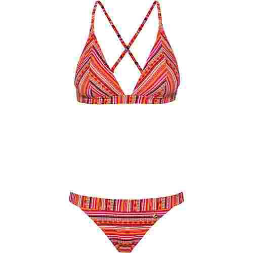 Lascana Bikini Set Damen orange bedruckt