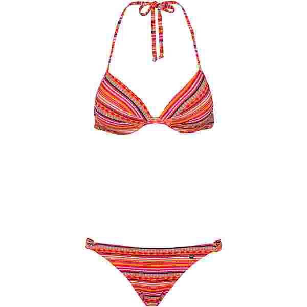 Lascana Bikini Oberteil Damen orange bedruckt