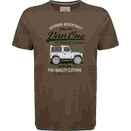 VAN ONE Landi VW Bulli T-Shirt Herren oliv