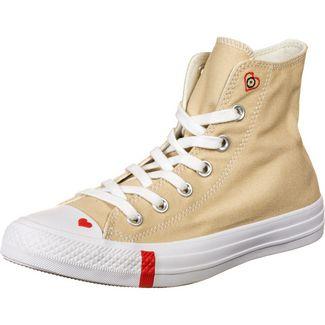CONVERSE Chuck Taylor All Star Love Fearlessly Sneaker Damen beige / rot