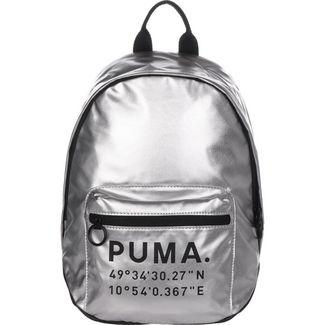 PUMA Rucksack Prime Time Archive X-Mas Daypack Damen silber / schwarz