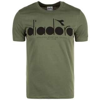Diadora SS BL T-Shirt Herren dunkelgrün / schwarz
