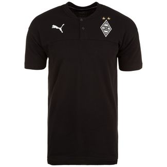 PUMA Borussia Mönchengladbach Casuals Poloshirt Herren schwarz / weiß