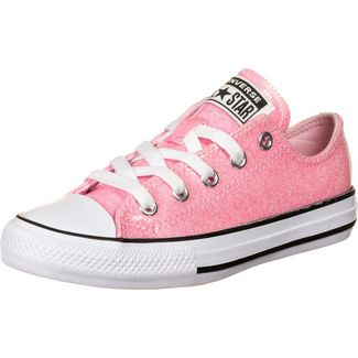 CONVERSE Chuck Taylor All Star Coated Glitter OX Sneaker Kinder rosa