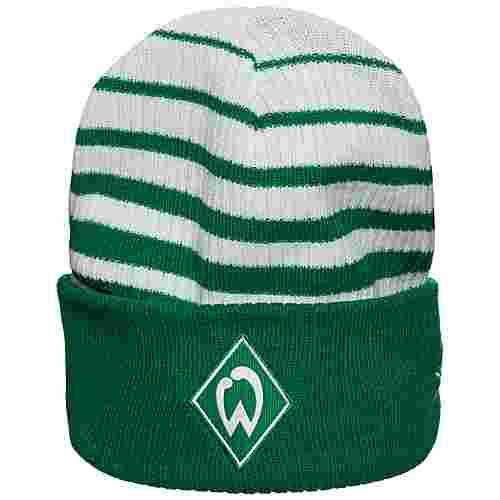 UMBRO SV Werder Bremen Two Colour Striped Beanie grün / weiß