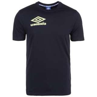 UMBRO Classico Crew T-Shirt Herren schwarz / hellgrün