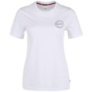 Herschel Stamp Logo T-Shirt Damen weiß / schwarz