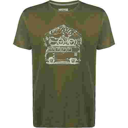 VAN ONE Zugspitze VW Bulli T-Shirt Herren oliv