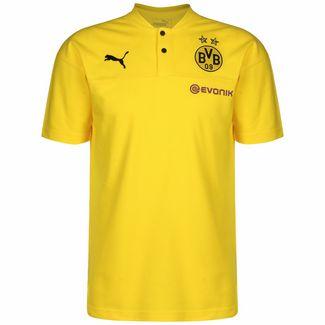 PUMA Borussia Dortmund Casuals Poloshirt Herren gelb / schwarz